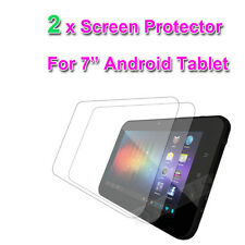 """2 X CLEAR 7"""" inch SCREEN PROTECTOR FOR  7'' NATPC M009S Allwinner A10 Tablet"""