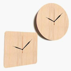 Wooden Large Clock Shapes Tags Blank Decoration Plaque Craft Shape Hanging