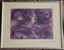 Jean MESSAGIER - Aquatinte gravure etching signée numér. dédicacée encadrée 1970