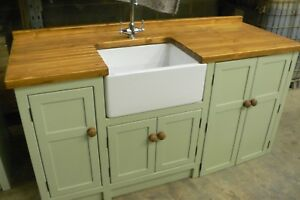 FREESTANDING BELFAST SINK/APPLIANCE UNIT.