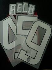 ST* Ac Milan Kit Printing Lettera Numero x maglia calcio 2008 09 Home Bianco