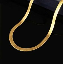 Fashion Men Women 18K Gold Plated Snake Chain Choker Necklace Jewelry 24""