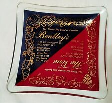 RARE BENTLEYS THE VINE LONDON Advertisement ASHTRAY Food Grills Piccadilly Glass
