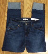 NWT Ann Taylor Loft Cuffed Modern Straight Jeans Size 30/10P 30x25.5 P773
