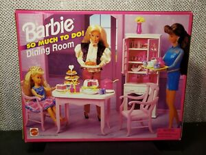 SO MUCH TO DO DINING ROOM BARBIE DOLL FURNITURE SET 1995 MATTEL 67150 NRFB