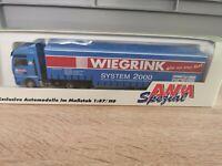 (Box K6) AMW / AWM LKW H0 1:87 MAN Sattelzug Wiegrink OVP