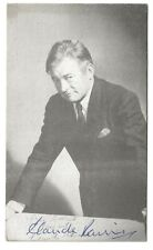 Claude Rains Actor. Casablanca, The Invisible Man. Genuine Signed Postcard Photo