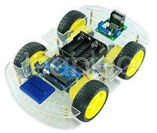 Kit Chasis robot 4 ruedas + Arduino UNO + bluetooth (HC-06) + Driver L298N. 4WD
