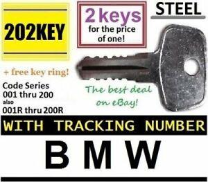 2 BMW ROOF RACK Keys made by THULE Car Ski Lock Bicycle Hauler Snowboard Carrier
