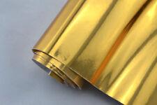 18,64€/m² CHROM FOLIE - GOLD - 30 x 152 cm flex Auto Klebe Folie selbstklebend