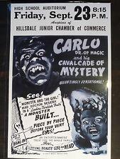 DR. OF MAGIC SPOOK SHOW EVENT POSTER Sideshow Freakshow Carnival Oddity Strange