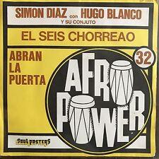 """Vinyl Simon Diaz Hugo Blanco  Abran La Puerta Blanco 7"""" EX/EX  45 SP 10045"""