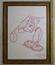 "✔ ºǑº 25x32"" HUGE Disney Canine Caddy 1941 Mickey Mouse Sketch Print w/o Swoosh"