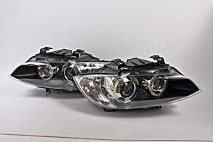 BMW 3 E90 E93 E92 M3 2007-2010 Xenon Adaptive Headlights Front Pair MARELLI OEM