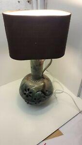 LIGHTS --- STUNNING BEAUTIFUL HANDMADE GLAZED POTTERY  TABLE LIGHT    (  73 )