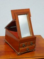 Antique Late 19th Century Jewelry Box w Fold Up Mirror ~ French Country