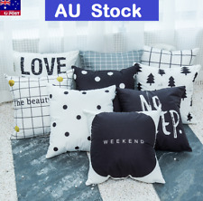 Square Cushion Cover Simplicity Style Pillow Case Bed Sofa Home Decor Novelty