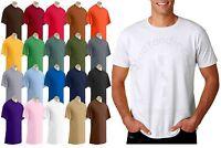 Gildan Plain Mens Boys T shirt  Top All Colors Sizes Christmas funny gift G64000