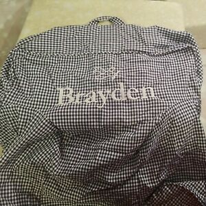"MY FIRST ANYWHERE CHAIR COVER PB BLUE WHITE PERSONALIZE ""BRAYDEN"" EMBROIDERED"