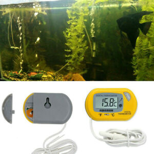 Digital LCD Thermometer Aquarium Fish Tank Water Temperature Meter Water Meters