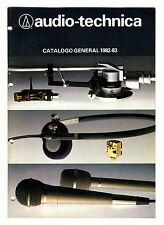 AUDIO TECHNICA  -  CATALOGO GENERAL 1982 - 1983  ORIGINAL CATALOG
