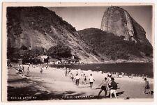 Rio de Janeiro, Brazil Praia Vermelha, 1950-s RPPC Postcard