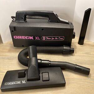 "Oreck XL Handheld Vacuum ""Clean For The Cure"" Type 3 BB870-ADP Susan G Komen Ed."
