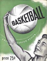 1953 2/14 basketball program DePaul, Notre Dame, Duquense St. Louis, Ray Meyer