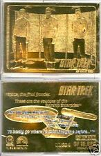 Original Star Trek Classic Crew 23 Karat Gold Plated Card- Boxed- FREE S&H
