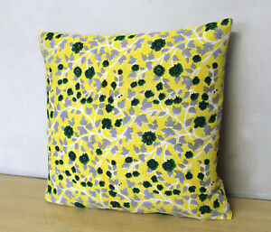 Cotton Cushion Cover Yellow Multicolour Hand Block Printed Pillow Covers Throw