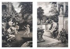 After D C Milton, 2 Antique Classical Prints Published by F R London