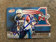 signed in person  ERIC LAPOINTE  CFL  MONTREAL ALOUETTES   ATOMIC 2003 # 54