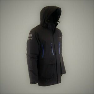 Clam Outdoors Ice Armor Rise Black (Blue Zippers) Float Parkas CHOOSE YOUR SIZE!