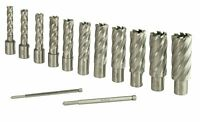 "Steel Dragon Tools® 13pc. High Speed Steel HSS Annular Cutter Kit 2"" Depth"