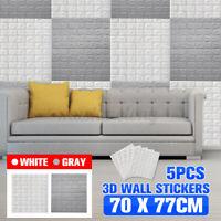 10Pcs 3D Waterproof Tile Brick Wall Sticker Self-adhesive Foam Panel Wallpaper