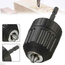 0.8-10mm Keyless Drill Chuck Converter 3/8'' 24UNF + 1/4'' Hex Shank Adaptor Set