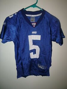NFL Youth Boy New York Giants Kerry Collins #5 Blue Football Jersey Size M (8)