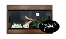 Repti-Life Vivarium 24x15x15 in Walnut, 2ft vivarium