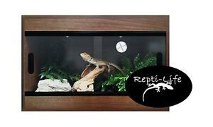 Repti-Life Vivarium 24x15x15 in Walnut, 2ft vivarium