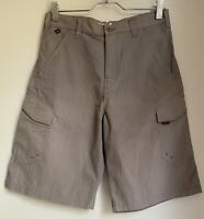 BROWN LONG SHORTS QUIKSILVER M MENS SUMMER SPORT GOLF FOOTBALL GYM TOWIE CASUAL