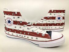 Converse CTAS Hi High Studded USA Garnet Red White & Navy Blue Sz 11.5  160994c