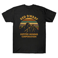 Sunset Red Dwarf Jupiter Mining Corporation Vintage Men's T-Shirt Cotton Tee