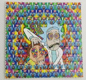 Rick and Morty Blotter Art Psychedelic Art LSD Acid Art 100 Tab Sheet Gift