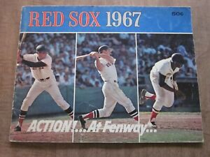 1967 Boston Red Sox Team Issued Baseball Yearbook  (Jim Lonborg Autograph)