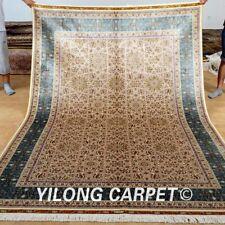 Yilong 6'x9' Classic Style Silk Rugs Hand Craft Carpets Top Modern Handmade 0264
