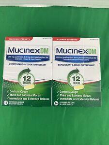 2Pack Mucinex DM Maximum Strength Expectorant&Cough Suppressant,1200mg,14Ct 2/23