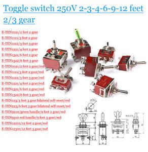 Toggle switch Rocker switch 250V 2/3/4/6/9/12 feet 2/3 gear E-TEN Control switch
