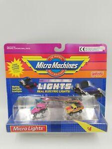 Vintage Micro Machines Micro Lights Set #4 Toyota HILUX & '55 T-Bird, HTF New