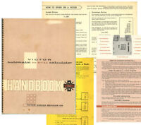 Vintage 1950's? Victor Calculator Operating Manual
