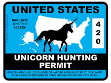 Unicorn Hunting Permit - United States (Bumper Sticker)